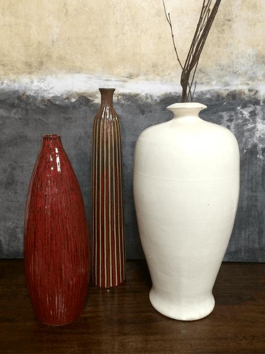 Dovetail White Porcelain Pot