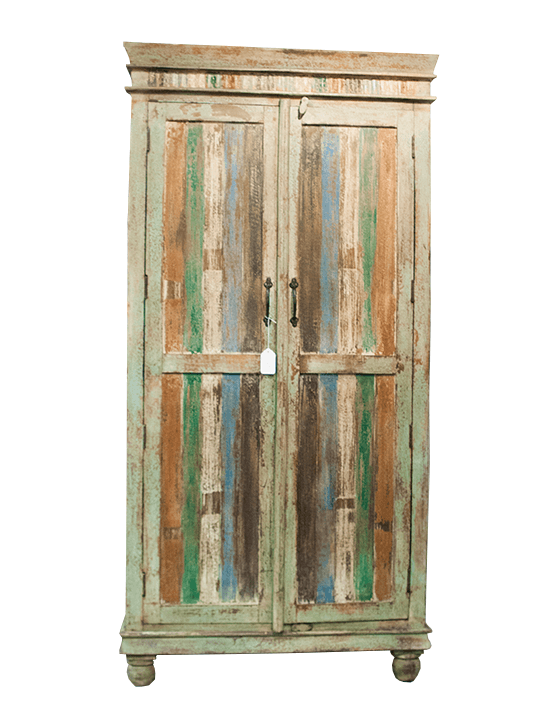 Colorful Reclaimed Wood Cabinet - One of a Find Furniture and Accents - Michigan