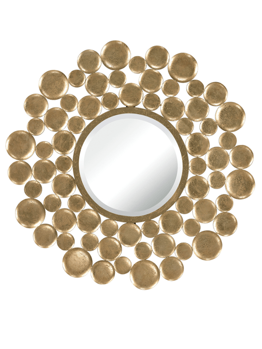 Bubble Gold Leaf Mirror - One of a Find Furniture and Accents - Michigan