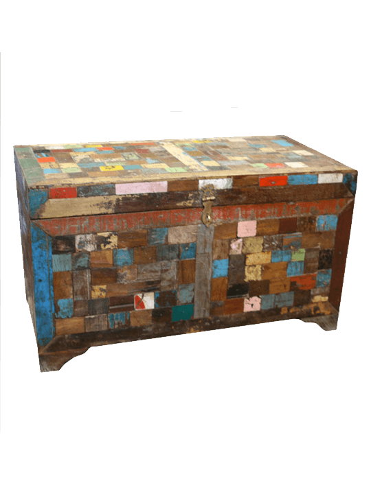 Paint Chip Storage Trunk - One of a Find Furniture and Accents - Michigan