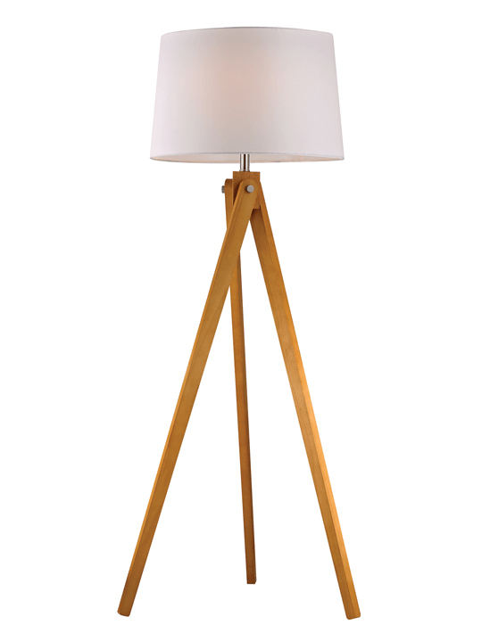 Wood Tripod Floor Lamp One Of A Find Furniture And Accents