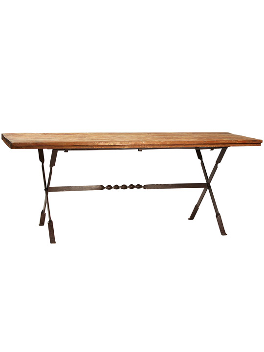 Reclaimed Folding Dining Table One Of A Find Dining