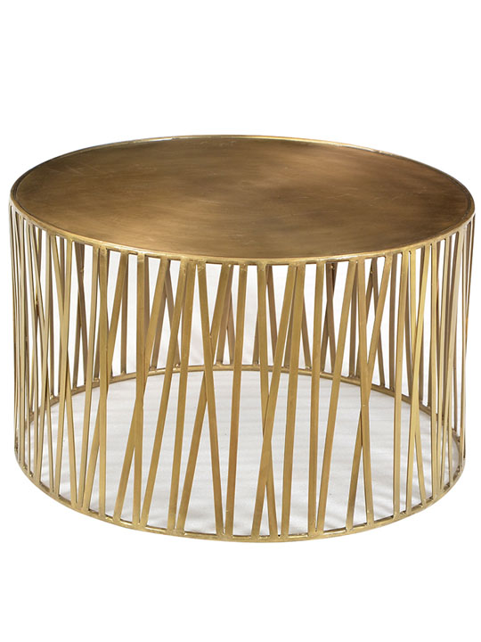 Murray brass coffee table one of a find accent for Coffee tables under 30