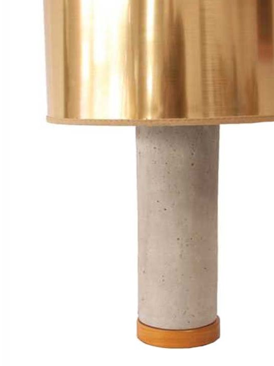 Concrete and Gold Table Lamp