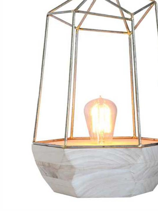 Geo Prism Table Lamp Detail
