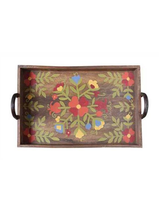 Hand Painted Floral Tray