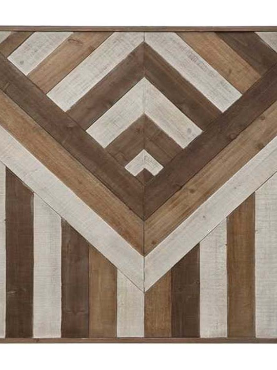 Pieced Wood Wall Decor Detail