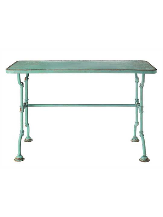 Distressed Blue Industrial Desk